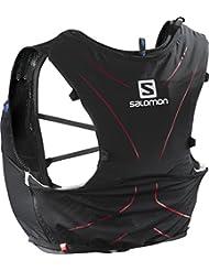 Salomon Mochila ligera para running, senderismo o ciclismo, 5 L, 36 x 20 cm, 310 g, ADV SKIN 5 SET, Talla: M/L, Negro (Matador), L39267700
