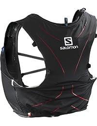 Salomon Mochila ligera para running, senderismo o ciclismo, 5 L, 36 x 20 cm, 310 g, ADV SKIN 5 SET, Talla: XXS, Negro, L39267699