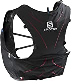Salomon Mochila Ligera de hidratación 5 l, ADV Skin 5 Set, Negro y Rojo, Talla: XL