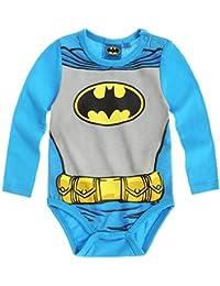 Body bebé manga larga efecto trompe-oeil disfraz Batman azul/gris de 3a 24Meses