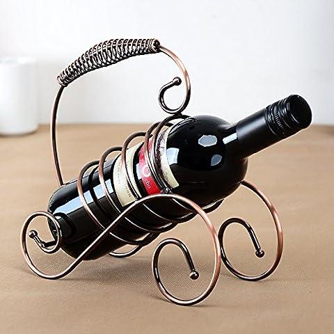 Continental fer Wine Rack créatif casier à vin titulaire vin tasse printemps spectacle casier à vin portable