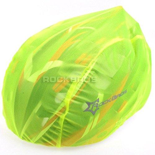 ROCKBROS Helmüberzug Regenüberzug Regenkappe Abdeckung Helm Cover Fahrrad Rennrad, Grün