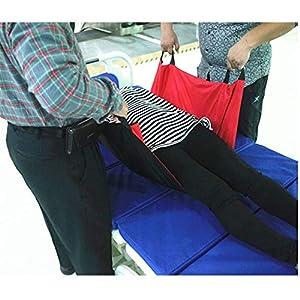 43,7″x 27,5″ wasserdichtes Positionierbett mit verstärkten Griffen – wiederverwendbare und waschbare Patientenauflage zum Heben und Umsetzen – schwarz