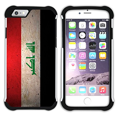 Graphic4You Vintage Uralt Flagge Von Turkey Türkisch Design Hart + Weiche Kratzfeste Hülle Case Schale Tasche Schutzhülle für Apple iPhone 6 Plus / 6S Plus Iraker Irak