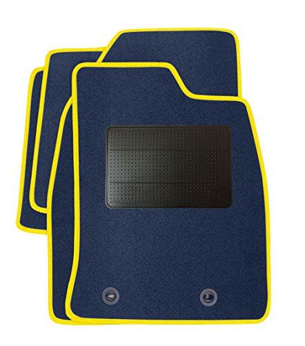 Genuine Premier Productos Tailor Fit para coche Set, estándar azul con ribete de color gris