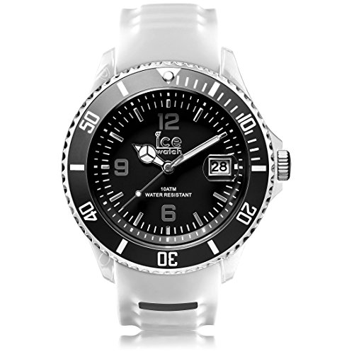 Ice-Watch - ICE sporty White Black - Montre blanche pour homme avec bracelet en silicone - 001328 (Extra Large)