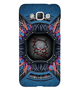 Fuson Designer Phone Back Case Cover Samsung Galaxy Grand Max G720 ( The Ferocious Angry Red Skull )