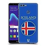Head Case Designs Isländische Fahne Fahnen Flicken Ruckseite Hülle für Huawei Y9 (2018)/Enjoy 8 Plus