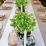 MIHOUNION 4 Bündel Künstliche Pflanzen Gefälschte Künstliche Sträucher Blumenstrauß Evergreen Sträucher für den Tisch Hochzeit Jeder zimmer Blumengestecke Deko - 4