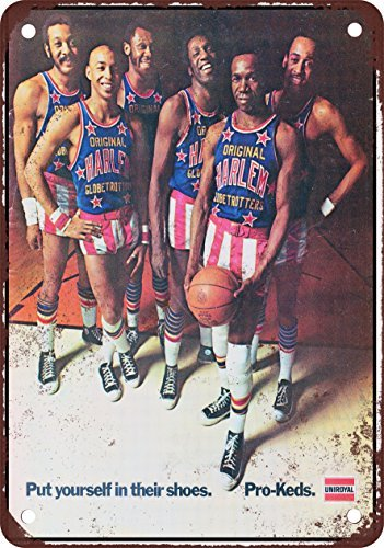 1972-harlem-globetrotters-pour-pro-keds-look-vintage-reproduction-plaque-en-metal-203-x-305-cm