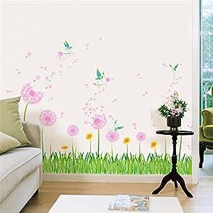 rodapie madrid: Pegatinas de paredDandelion fairy rodapié pared de cristal pegatinas de esquina ...