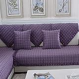 lovecover Schnittsofa werfen abdeckung pad Sofaüberwurf Für haustier hund Ganze saison Plüsch Sofabezug U L-form Anti-rutsch Verdicken sie Couch abdeckung-1 stück-C 28x71inch(70x180cm)