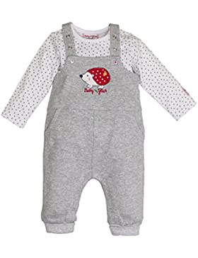 SALT AND PEPPER Baby-Mädchen Strampler BG Dungarees Uni