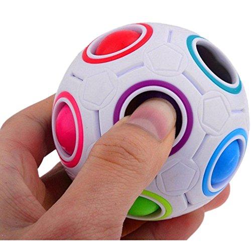 Magic Kugel Kunststoff Cube Twist Puzzle Spielzeug für Kinder pädagogisches Spielzeug Jugendliche Erwachsene Stressabbau (Spielzeug Truhen Für Jungen)