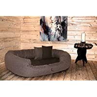 [Gesponsert]tierlando® LUXUS orthopädisches Hundesofa BALOU Hundebett Visco PLUS Matratze | Handwebcharakter | Premium-Lounge! Gr. XXL 140cm Braun Töne