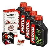 Ölwechselset Motul 5000 10W-40 Öl + K&N Ölfilter für XVS 1100 Drag Star/Classic, Bj. 99-07 (Typ VP05 VP16); Motoröl + Filter + Dichtring