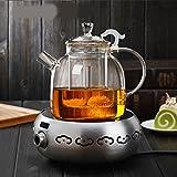 bollitore Tea Maker ispessimento resistente al calore di vetro Tea set teiera elettrica pentola pot kettle, pentola + argento fornello elettrico in ceramica
