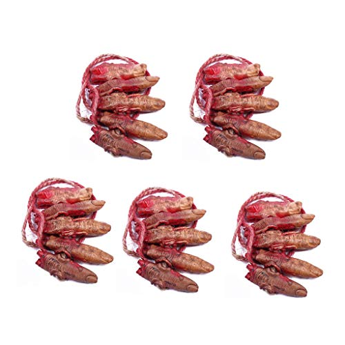 LuohuiFang Halloween Party Decor-5x blutiger gefälschter Latex Arm Hand durchtrennt gebrochene Körperteile hängen gruselige Horror Requisiten