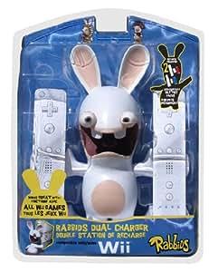 Double station de recharge Lapins Crétins pour Nintendo Wii