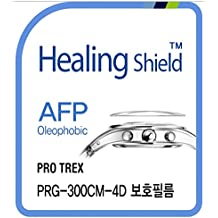 Healingshield Protectores de pantalla Oleophobic AFP Clear Film for Casio Watch Protrek PRG-300CM-4D [Front 2pcs]
