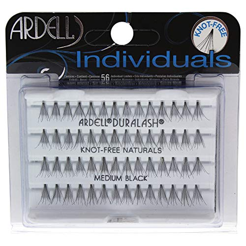 Ardell Individuals Medium, das Original (Knot Free) black, 1er Pack (1 x 56 Stück)
