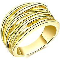 Gnzoe Gioielli,Placcato Oro Moda Stile Glossy Matrimonio