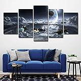 BVC Guerre Stellari 5 Pannello Tela Stampe HD Pittura Wall Art Home Decor,A,30×50×2+30×70×2+30×80×1