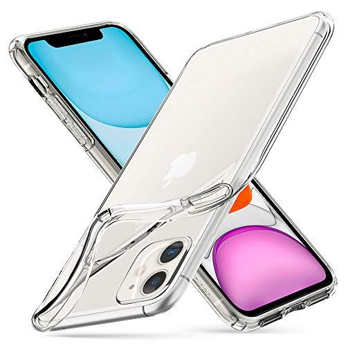 Spigen Coque iPhone 11 [Liquid Crystal] Mince, Légère, Ajustement Parfait, Protection aux 4 Coins - [Air Cushion] Coque Compatible avec iPhone 11 (2019) - Crystal Clear