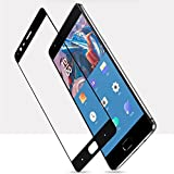 #9: Oneplus 3 Full Coverage Tempered Glass Screen Protector 0.2.5mm Clear 3D For ONE PLUS 3 [Edge to Edge] Bubble Free (black)