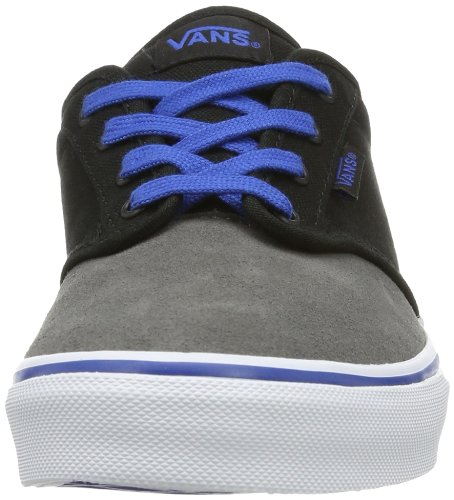 Vans Y ATWOOD  (SUEDE)PWTR/BLK, Sneaker unisex bambino Argento (Silber ((Suede)Pwtr/Blk))