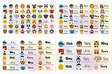 Kigima 114 - Etichette per nome, rettangolari, diverse misure e motivi animali, Nora