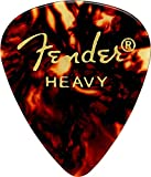 Fender 351 Classic Celluloid Picks 12-Pack (Tortoise Shell) Heavy- Lot de 12 médiators
