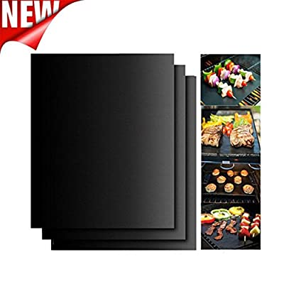 Sellify 5PC : Hot sale 3pc or 5 pc Non-Stick BBQ Magic Grill Mat Perfect for Baking on Gas Heat Resistant For use in oven and microwave