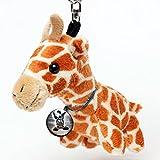 Kuscheltiere.biz Giraffe Oggy Kuscheltier Schlüsselanhänger Anhänger Plüschtier