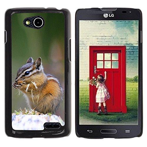 DREAMCASE Hart Handy SchutzHülle Hülle Schale Case Cover Etui für LG OPTIMUS L90 D415 - Cute Chipmunk Squirrel