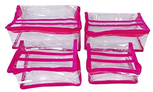 4 Stück Kosmetik Make-Up Pouch Kultur Organizer Mit Reißverschluss Vanity-Fall-Beweglicher Tasche - Farbe Wählen (Zippy Organizer)