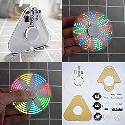 Yongse Kit dapprentissage Spinner SMD Rotation LED Triangle LED Geekcreit Round Round POV