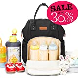 Hoklan Travel Diaper Backpack For Baby Care, Stylish Waterproof Durable And Large Capacity, Multi-Use Travel Bag For Women And Men, Fits 15.6 Laptop, Gift Idea For Daddy