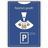 1 Geburtstagskarte: Einladungskarte zum 50. Geburtstag im Parkuhr Look: Natürlich gereift!.