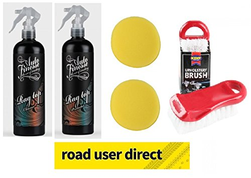 auto-finesse-rag-soft-top-hood-cleaner-500ml-protector-500ml-with-2-foam-applicator-pads-brush