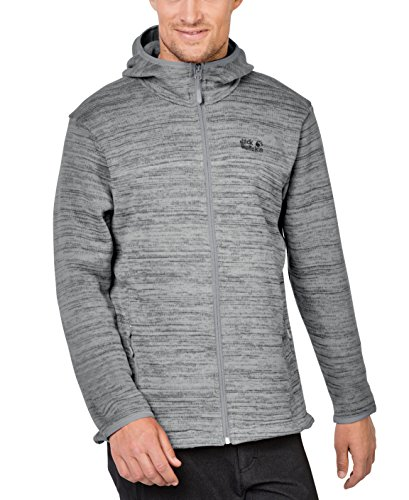 Jack Wolfskin Herren Aquila Hooded Fleecejacke, Alloy, XL