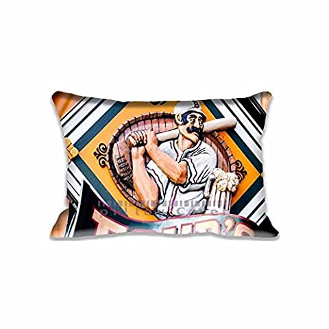 Zippered Baseball Bar Pillowcase King Size Pillow Cover Protector 20x30Inch (Twin Sides)Home Kitchen Decorations