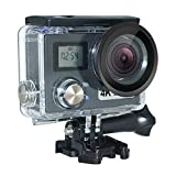 JIEJIEDA Cámara Deportiva 4K cámara Impermeable cámara WiFi Antena película DV estabilizador giroscopio Ultra Delgada 59 * 44 * 21,4 mm