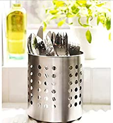 Olrada High Quality Stainless Steel Combo Spoon, cutterly holder, Pen Holder, Brush Stand in best Quality ( desing may very )