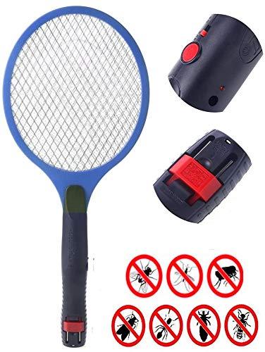 1 Elektrische Fliegenklatsche mit Akku BLAU I Extra Stark I Aufladbarer Insektenvernichter Fliegenfänger