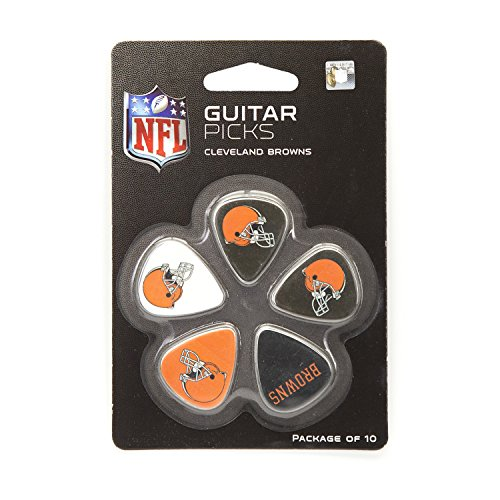 nfl-cleveland-browns-guitar-pick-10-pack-1-inch-x-1-3-16-inch-orange