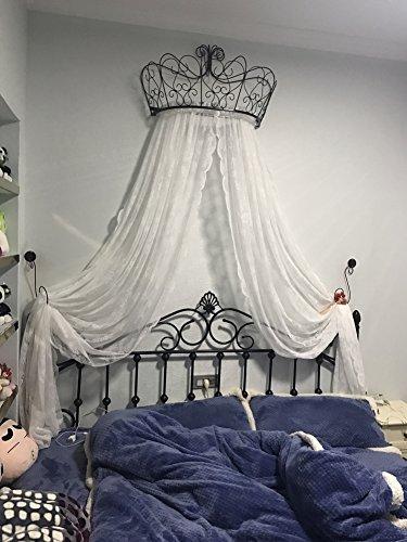 Letto a baldacchino principessa,Ferro battuto europeo copriletto mosquito net tendaggi tenda decorativa corona reticolato tende-C