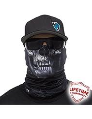 SA Company Face Shield Cagoule * * Designs Différents * * Multi unkti Ons écharpe Masque Fishing Tête de Mort Skull Bandana Bandana Masque de ski moto paintball, Skull Tech Crow