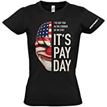 PAYDAY 2 Women's Dallas Mask T-Shirt (X-Large/Black) by PAYDAY 2
