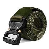 Cinturón ajustable de seguridad, muy resistente, de 3,8 cm de ancho, de estilo militar,...